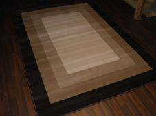 Modern Approx 8x5ft 160x230cm Woven Square Designs Rugs Brown/Beige Bargains